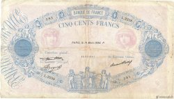 500 Francs BLEU ET ROSE FRANCE  1936 F.30.37 B+