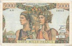 5000 Francs TERRE ET MER FRANCE  1951 F.48.04 TB