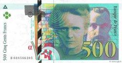 500 Francs PIERRE ET MARIE CURIE FRANCE  1998 F.76.04 SUP