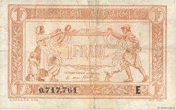 1 Franc TRÉSORERIE AUX ARMÉES FRANCE  1917 VF.03.05 TB