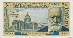 5 Nouveaux Francs VICTOR HUGO FRANCE  1960 F.56.05