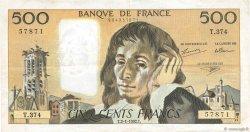 500 Francs PASCAL FRANCE  1992 F.71.49 pr.TTB