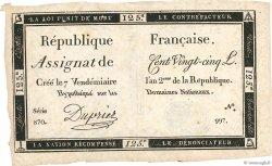 125 Livres FRANCE  1793 Ass.44a TTB+