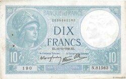 10 Francs MINERVE modifié FRANCE  1940 F.07.24 TTB
