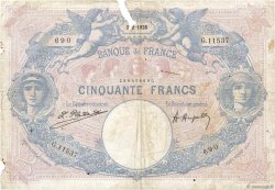 50 Francs BLEU ET ROSE FRANCE  1925 F.14.38 AB