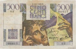 500 Francs CHATEAUBRIAND FRANCE  1945 F.34.01 TB