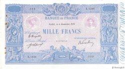 1000 Francs BLEU ET ROSE FRANCE  1919 F.36.34 pr.TTB