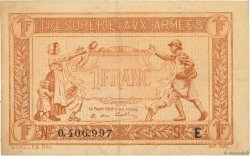 1 Franc TRÉSORERIE AUX ARMÉES FRANCE  1917 VF.03.05 TTB