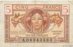 5 Francs TRÉSOR FRANÇAIS FRANCE  1947 VF.29.01 TB+