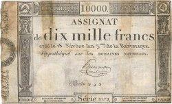 10000 Francs FRANCE  1795 Ass.52a B+