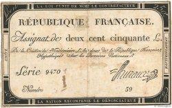250 Livres FRANCE  1793 Ass.45a B
