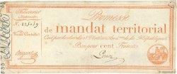 100 Francs sans série FRANCE  1796 Ass.60a F