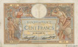 100 Francs LUC OLIVIER MERSON grands cartouches FRANCE  1937 F.24.16 TB