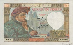 50 Francs JACQUES CŒUR FRANCE  1941 F.19.11 TTB+