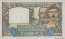 20 Francs TRAVAIL ET SCIENCE FRANCE  1941 F.12.15 TTB+
