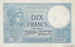 10 Francs MINERVE  FRANCE  1923 F.06.07 SUP