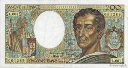 200 Francs Montesquieu FRANCE  1981 F.70.01 SPL+