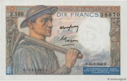 10 Francs MINEUR  FRANCE  1949 F.08.20 SUP+