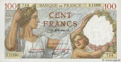 100 Francs SULLY  FRANCIA  1940 F.26.30
