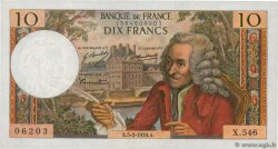 10 Francs VOLTAIRE  FRANCE  1970 F.62.42
