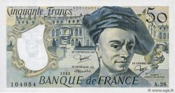 50 Francs QUENTIN DE LA TOUR  FRANCE  1982 F.67.08