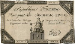 50 Livres  FRANCE  1792 Ass.39a