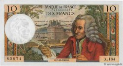 10 Francs VOLTAIRE  FRANCE  1965 F.62.16