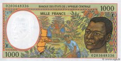 1000 Francs  CENTRAL AFRICAN STATES  2002 P.202Eh UNC-