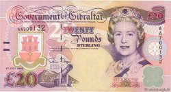 20 Pounds Sterling  GIBRALTAR  1995 P.27a