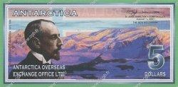 5 Dollars ANTARCTICA  2001 P.- NEUF
