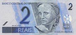 2 Reais BRÉSIL  2001 P.249b NEUF