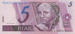 5 Reais BRÉSIL  1999 P.244Ac NEUF