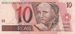 10 Reais BRÉSIL  1999 P.245Ae NEUF