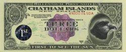 3 Dollars ILES CHATHAM  2000 P.-- NEUF