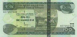 100 Birr ÉTHIOPIE  2004 P.52 pr.NEUF