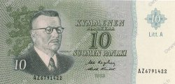 10 Markkaa FINLANDE  1963 P.104a NEUF