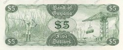 5 Dollars GUYANA  1992 P.22f NEUF