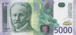 5000 Dinara YOUGOSLAVIE  2002 P.159 pr.NEUF