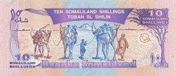 10 Shillings / 10 Shilin SOMALILAND  1996 P.02b NEUF