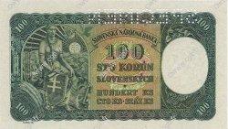100 Korun TCHÉCOSLOVAQUIE  1945 P.051s pr.NEUF