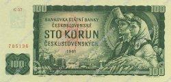 100 Korun TCHÉCOSLOVAQUIE  1961 P.091c pr.NEUF