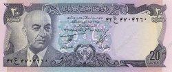 20 Afghanis AFGHANISTAN  1977 P.048a NEUF