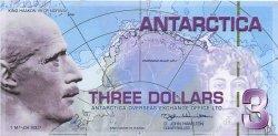 3 Dollars ANTARCTICA  2007 P.- NEUF