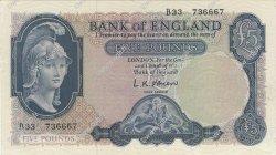 5 Pounds ANGLETERRE  1957 P.371 pr.NEUF