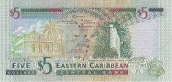 5 Dollars CARAÏBES  2000 P.37v NEUF