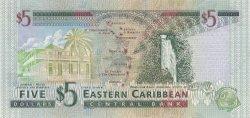 5 Dollars St. Kitts CARAÏBES  2000 P.37k NEUF