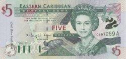 5 Dollars Antigua CARAÏBES  2000 P.37a NEUF