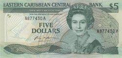 5 Dollars CARAÏBES  1986 P.18a NEUF