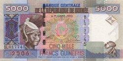 5000 Francs Guinéens GUINÉE  2006 P.41a NEUF