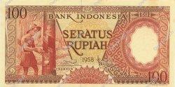 100 Rupiah INDONÉSIE  1958 P.059